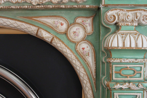 Mason's Ironstone Chimneypiece Painted Detail