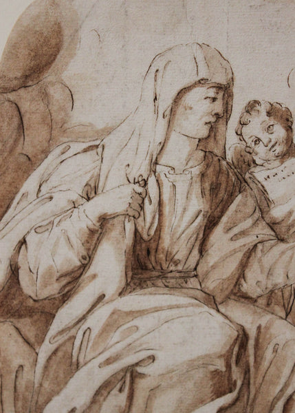 17th Century Drawing The Annunciation Faces