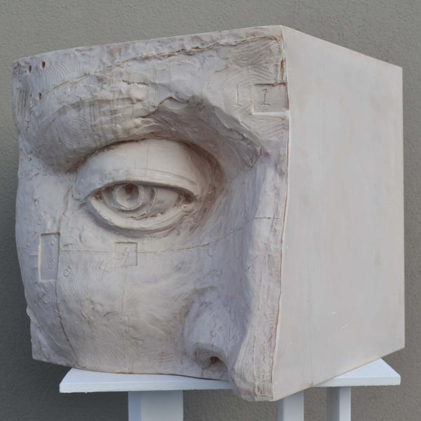 Resin Cubo G Sculpture by Javier Marin