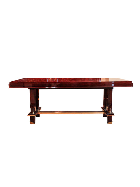 Inlaid French Art Deco Table in the Manner of Leleu