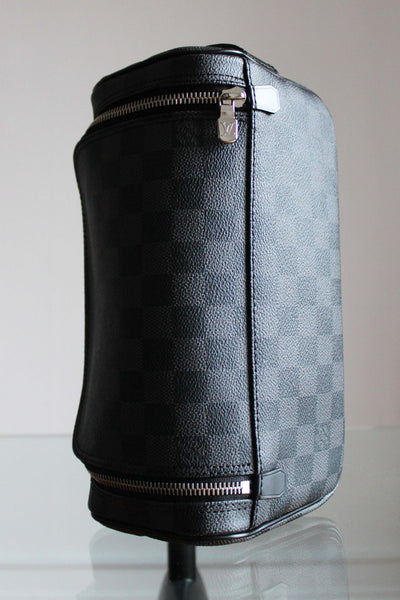Toiletry Pouch by Louis Vuitton in Damier Graphite