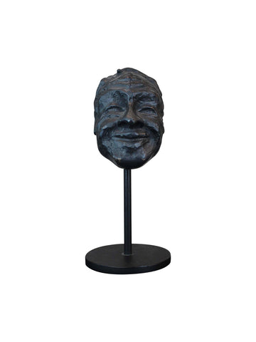 Smiling Bronze Mask by Lynn Falconer