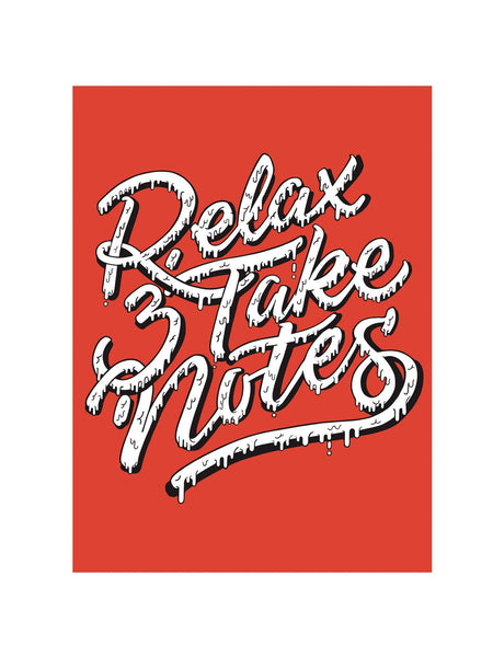 """Relax & Take Notes"" Screenprint by Mega McGrath, Edition of 40"