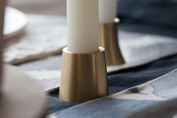 Ella Brass Candlesticks by Ox and Monkey