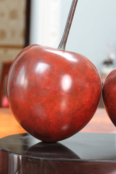 Bronze Double Cherry, Signed Popliteo