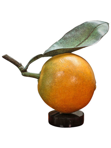 Bronze Navel Orange, Signed Popliteo
