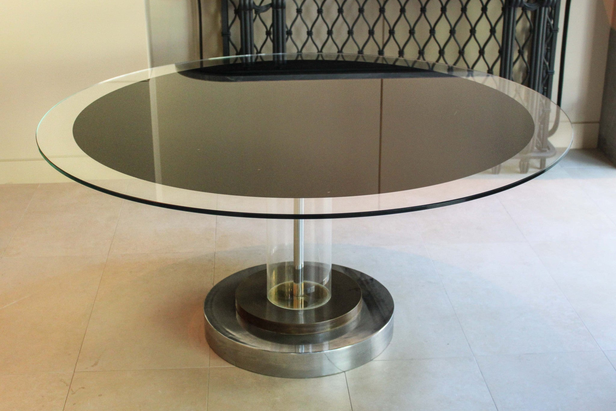 Romeo Rega Lucite Pedestal Table The Edit