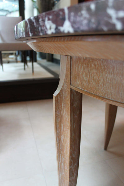 Oak and Marble Centre Table
