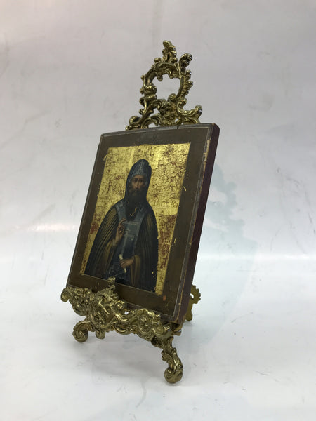 Russian Icon Painting with Stand