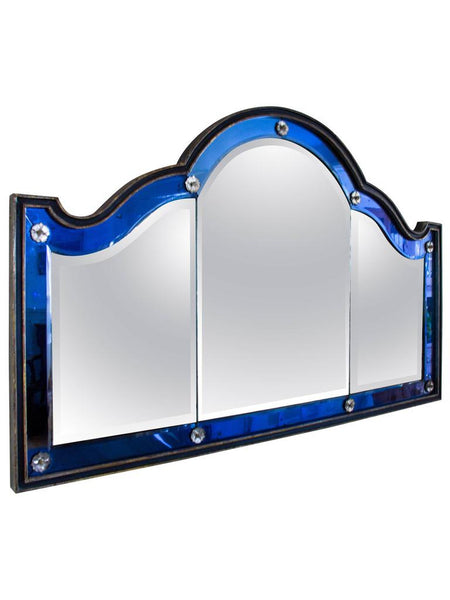 Blue Venetian Overmantel Mirror