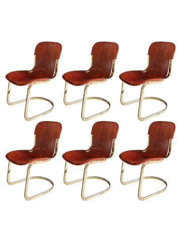 Cidue Italian Leather Dining Chairs