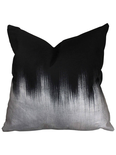Silver Ombre Alloy Pillow by Amanda Hamilton