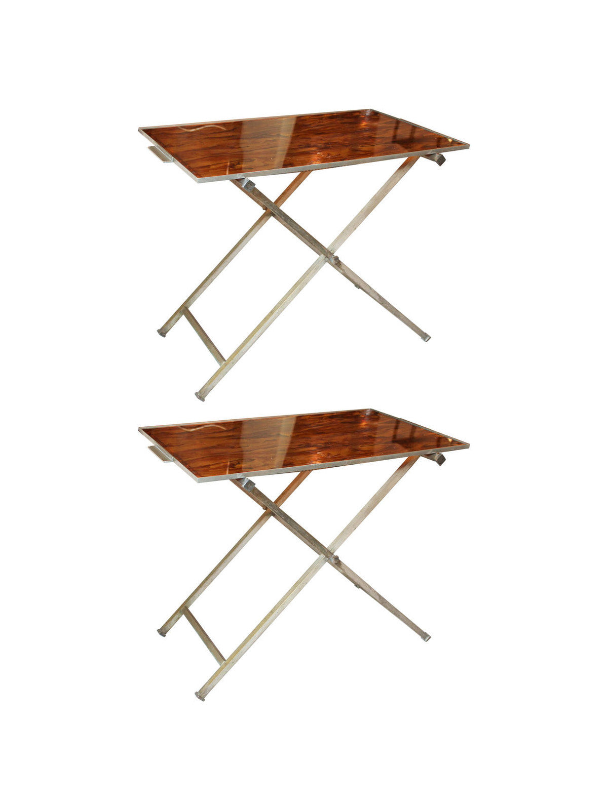 Mid Century Butler Tray and Stand Pair – The Edit