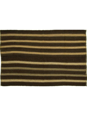 Brown Striped Turkish Kilim