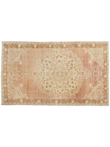 Pale Pink Turkish Oushak Rug