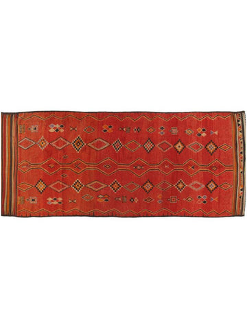 Red Turkish Oushak Runner