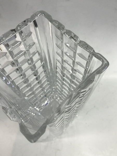 Signed Waterford crystal vase