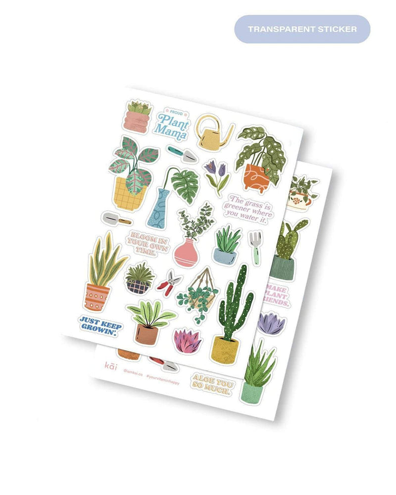 kāi Sticker Pack: Plant Friends