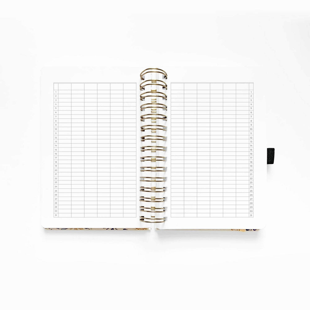 Archer & Olive Undated Planner - Fleur-De-Blue - Revel