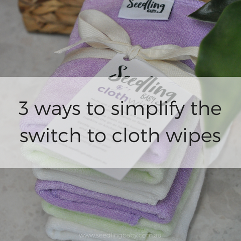 If you've been thinking of making the transition from single-use to washable wipes, I've got 3 specific tips which I hope will help ease the transition for you.