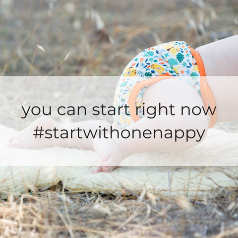 You can start using cloth nappies right here, right now. #startwithonenappy