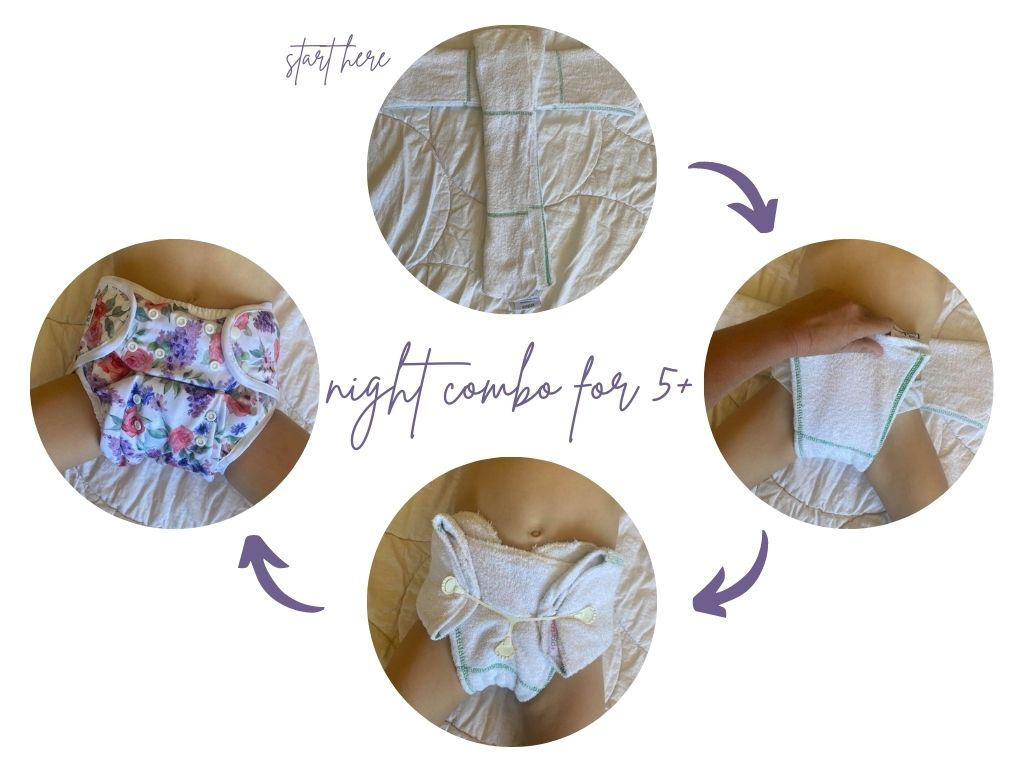 Night cloth nappy solutions for children over 5 years