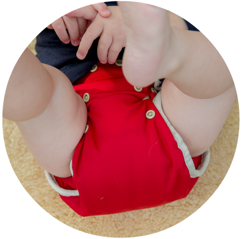 The leg gusset on our nappy ensures leak-free nappy days and a great fit across all ages.