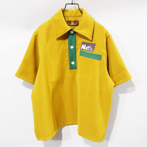 SOLD OUT.〈 〉JERSEY BIG POLO SHIRT (MUSTARD) /〈ノントーキョー〉/ジャージビックポロシャツ (マスタード)