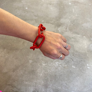 <POOL BY CLASS>CHAIN BRACELET(RED)/〈プールバイクラス〉チェーンブレスレット(レッド)