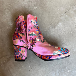 〈NON TOKYO〉JACQUARD HEEL BOOTS(PINK)/〈ノントーキョー〉ジャガードヒールブーツ(ピンク)