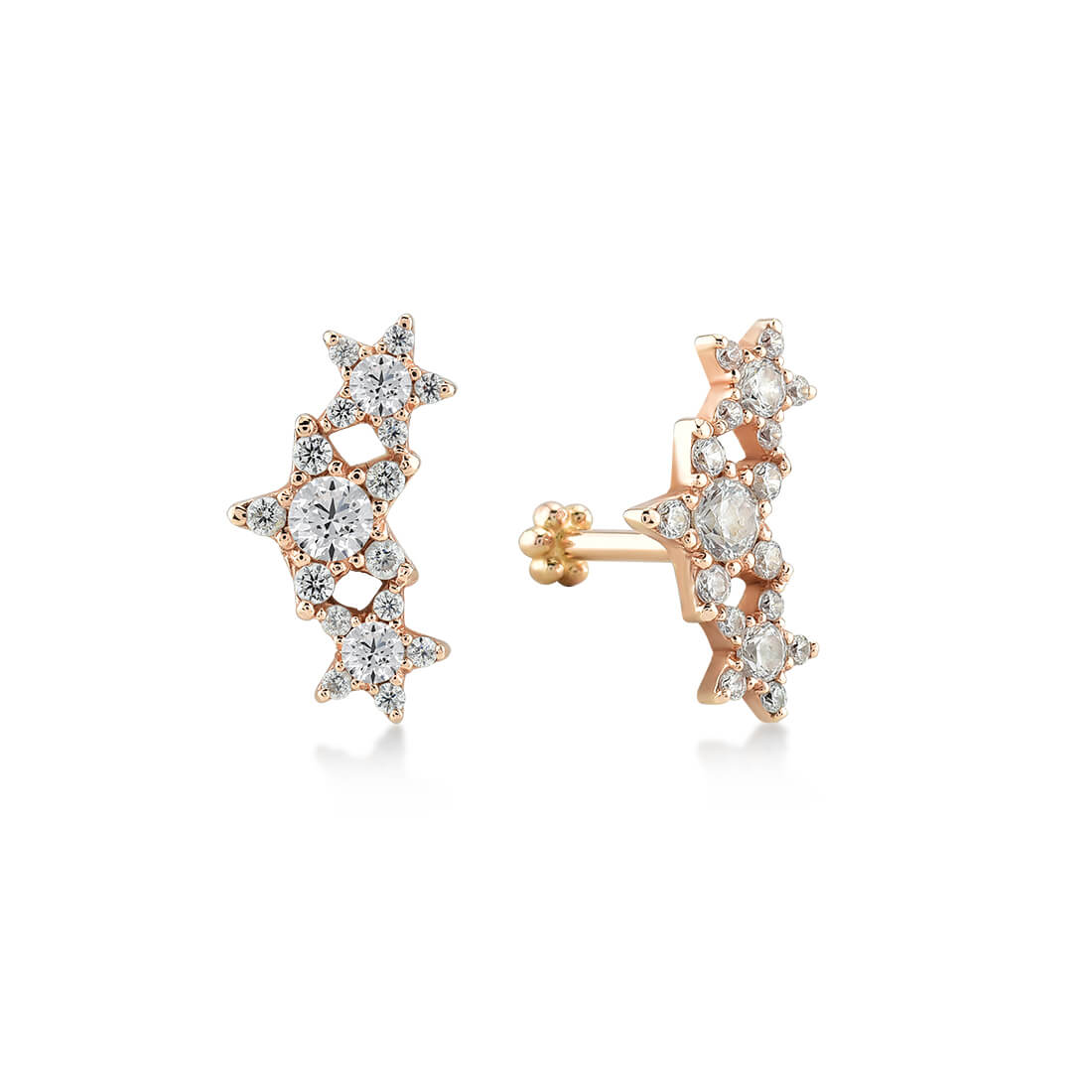14K GOLD STARRUCKS CARTOON EARRING