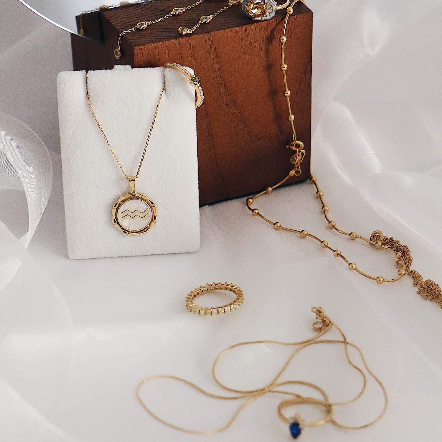 gold plated horoscope necklace