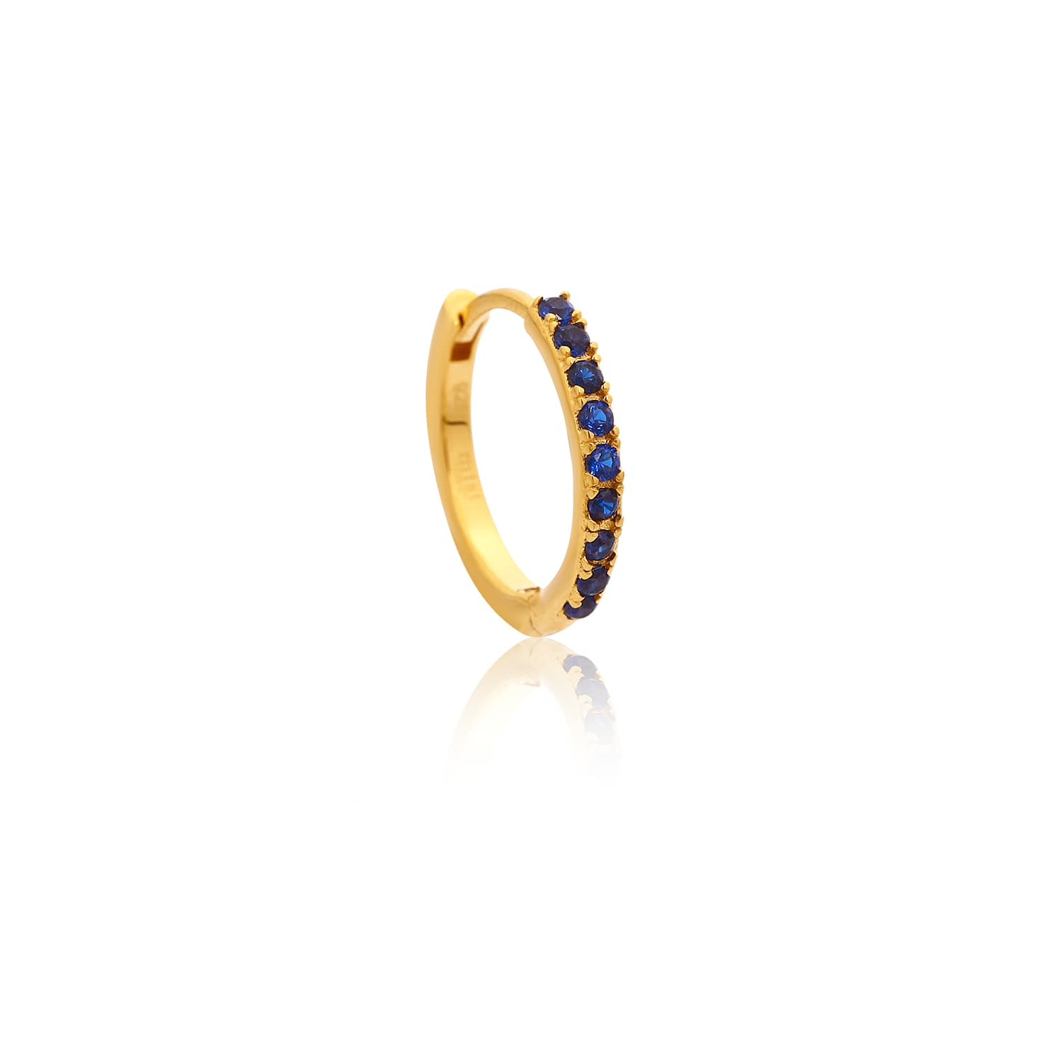 12MM CHARM RING EARRINGS DARK BLUE