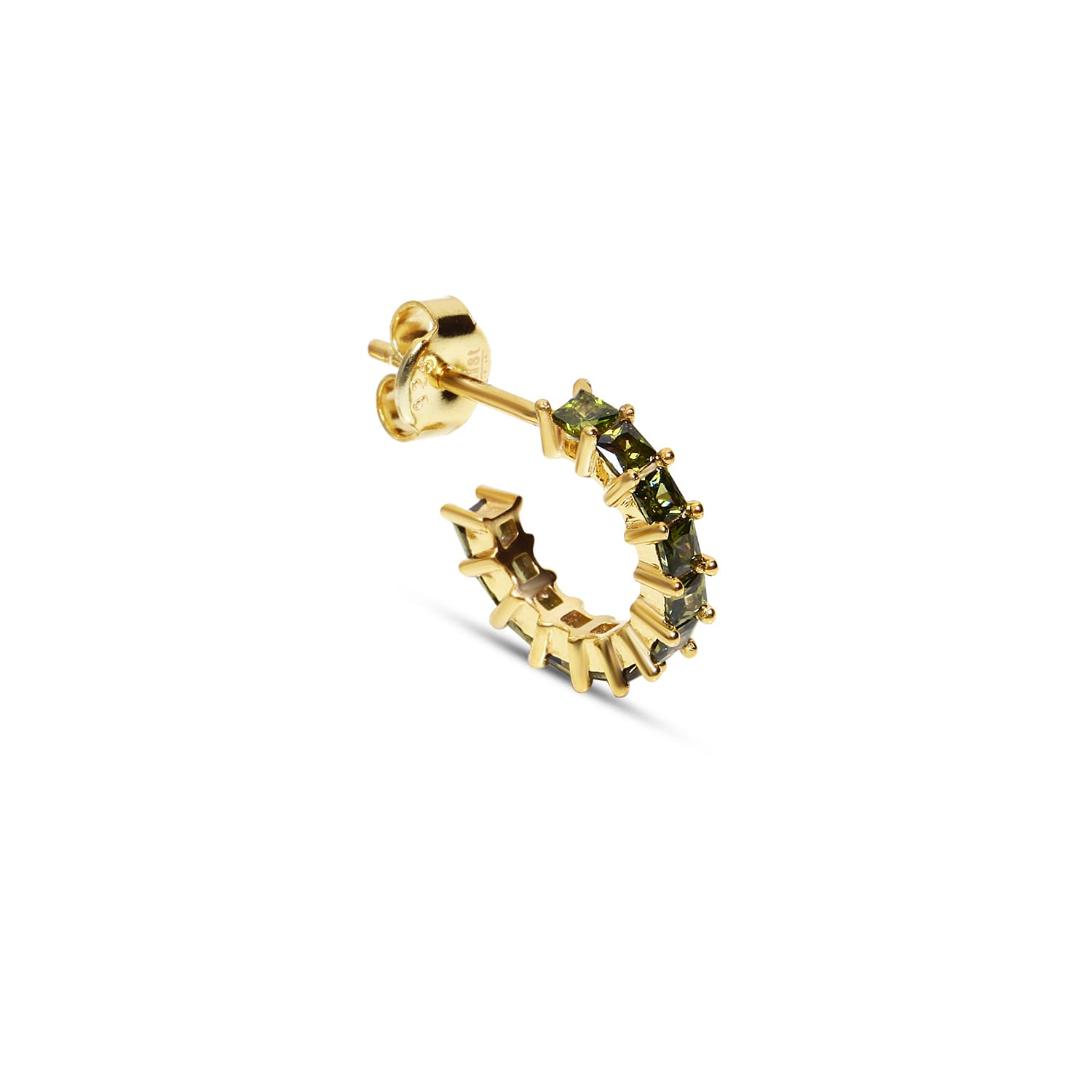 Gold plated silver minimal stone earrings models
