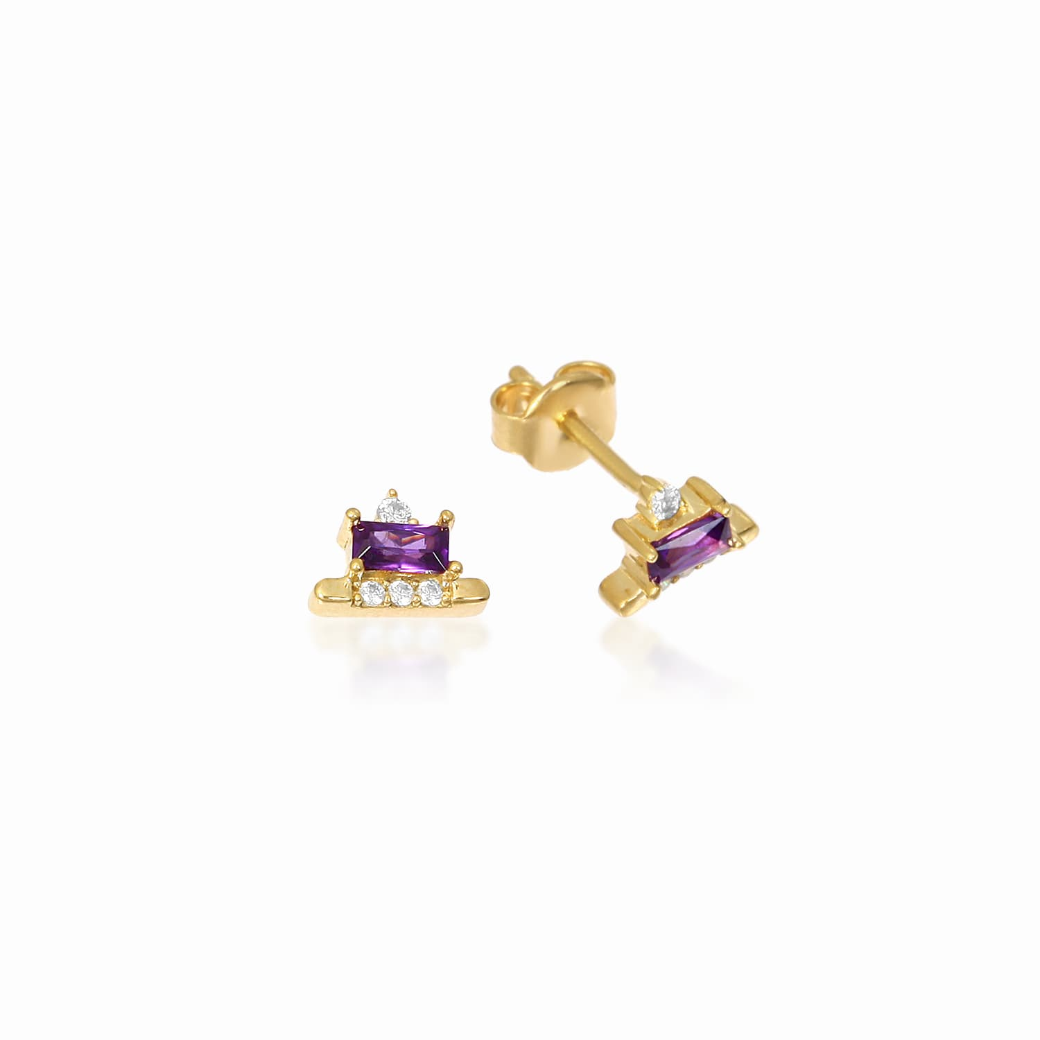 LOLA PURPLE EARRING