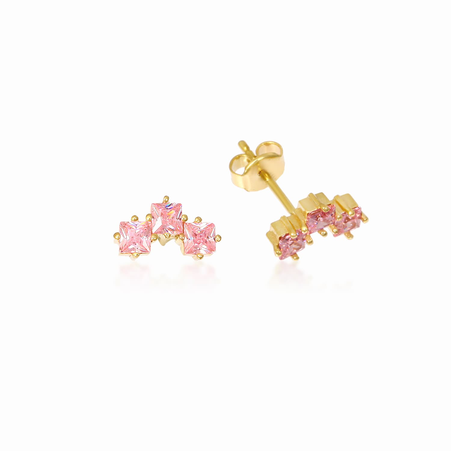TRIO PINK EARRING