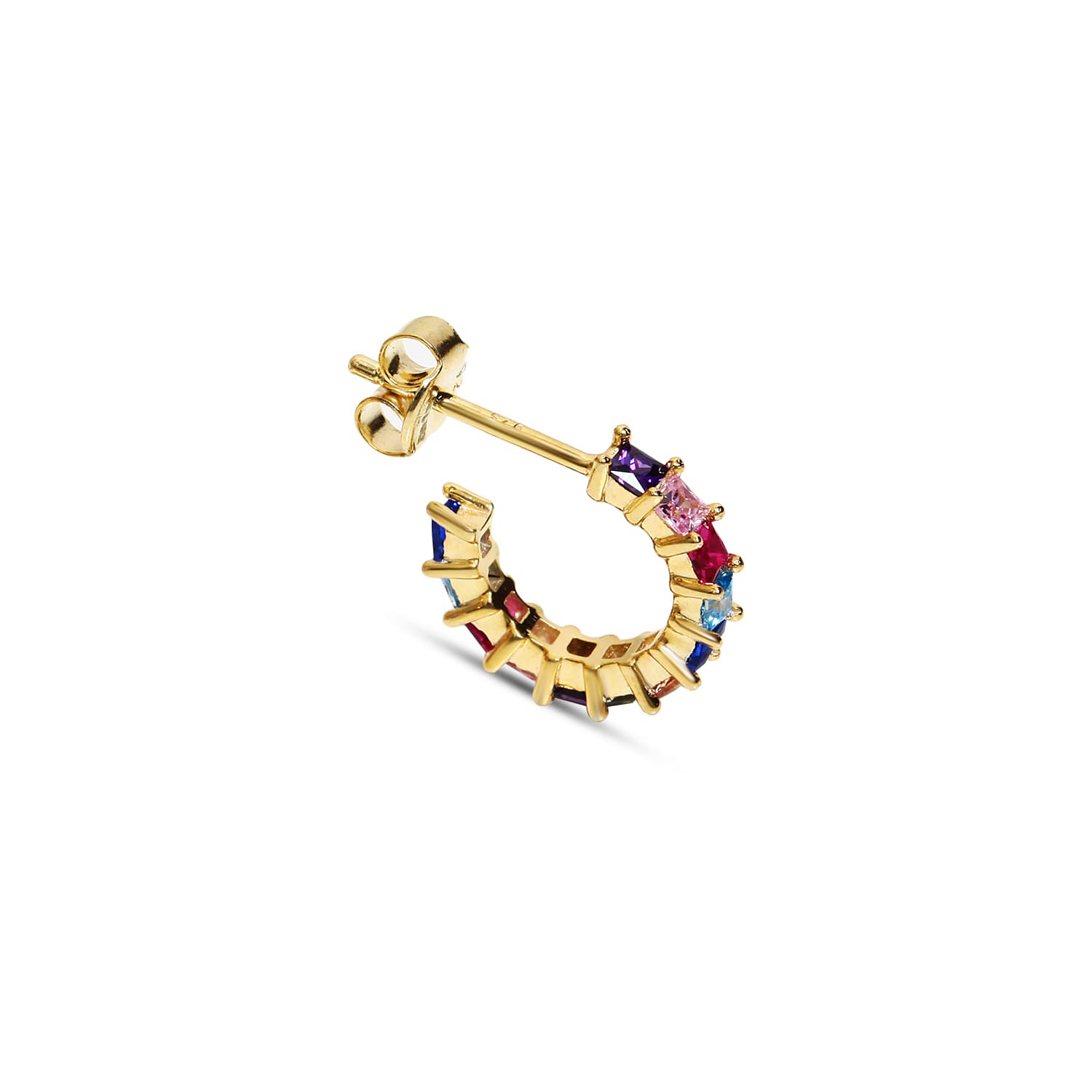 Gold plated silver minimal earring models