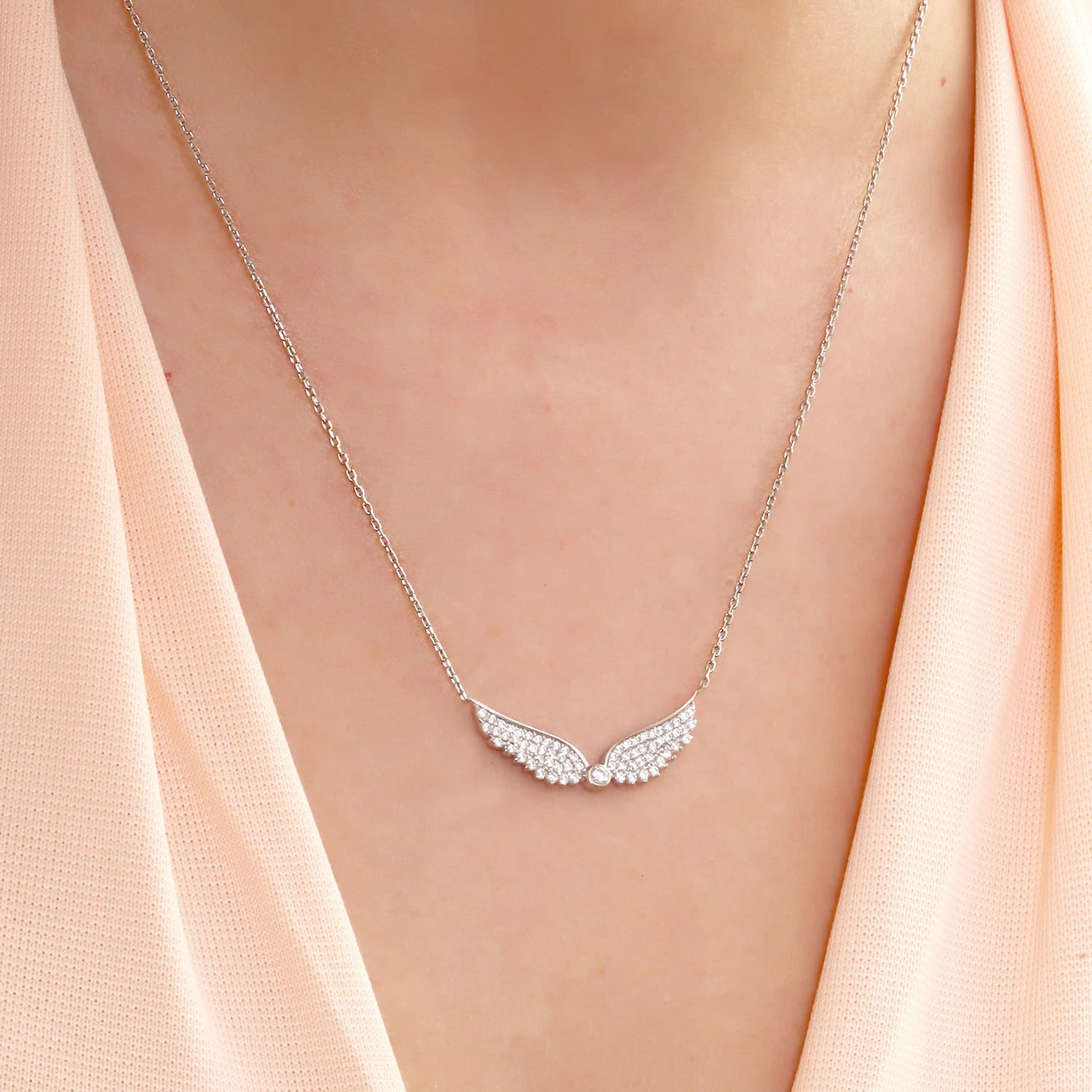 Stone Wing Necklace