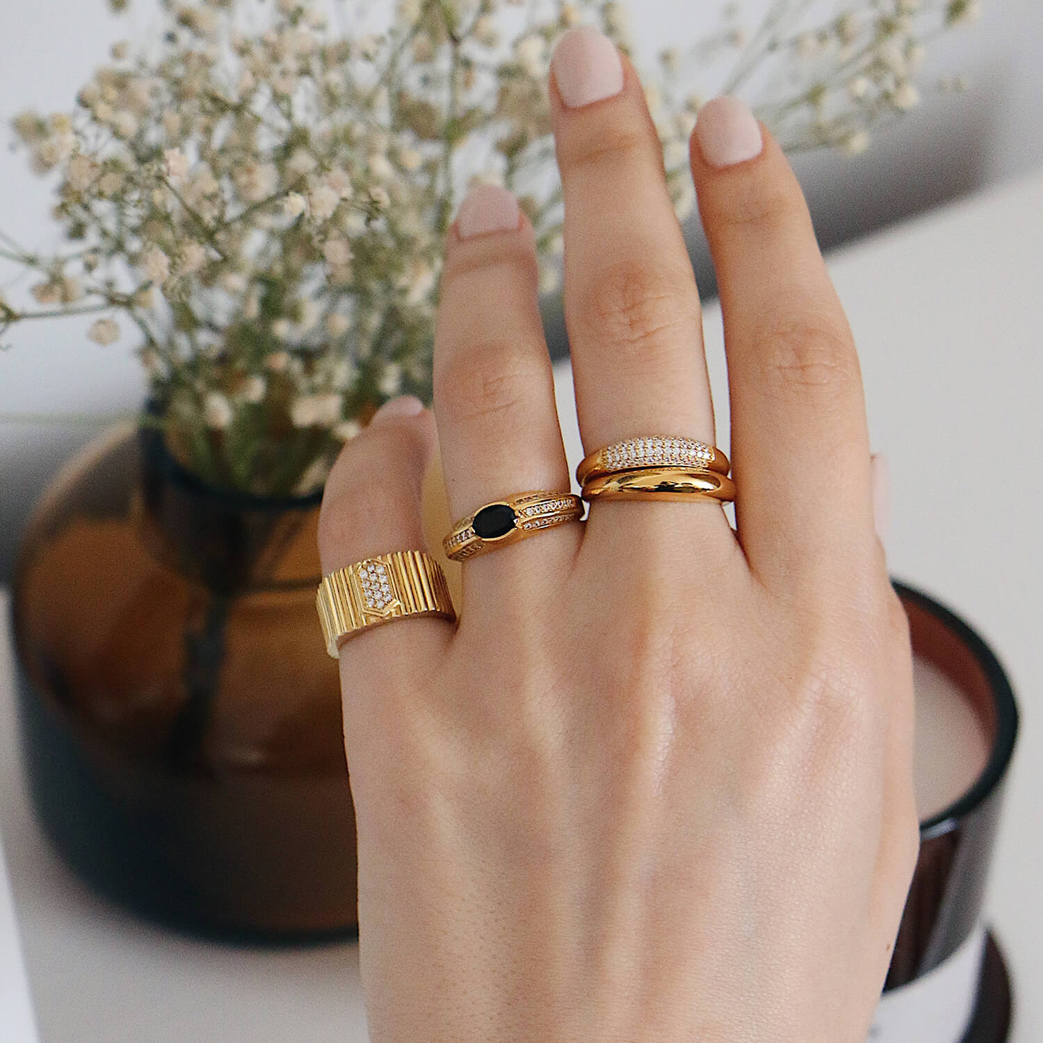 PAVE PLUMP RING