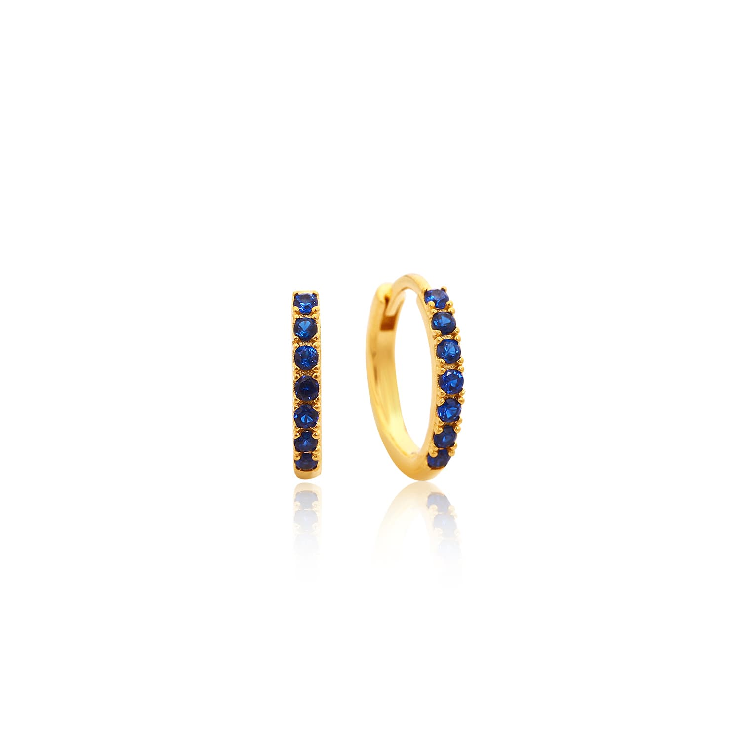8MM CHARM RING EARRINGS DARK BLUE