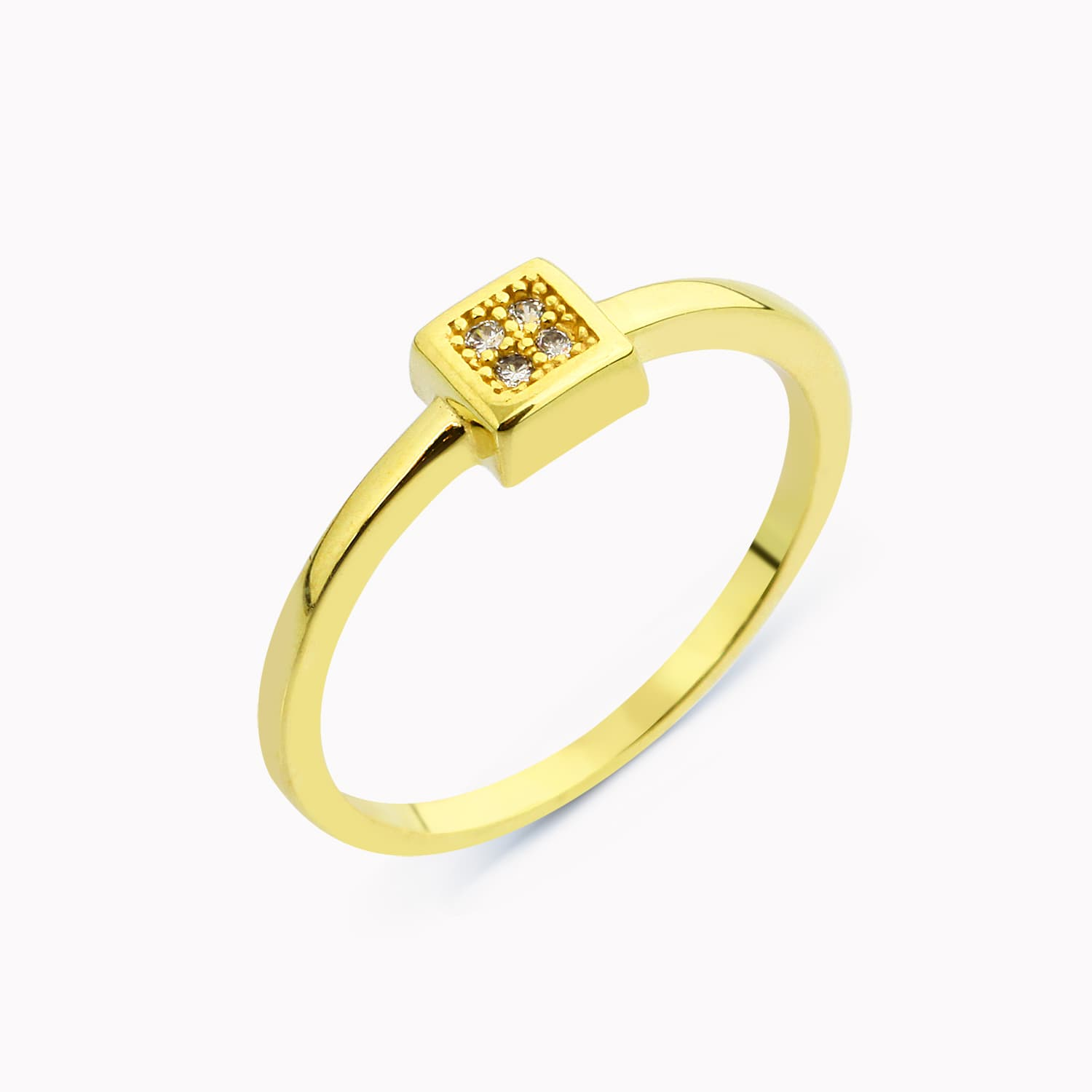 Silver gold plated thin ring models
