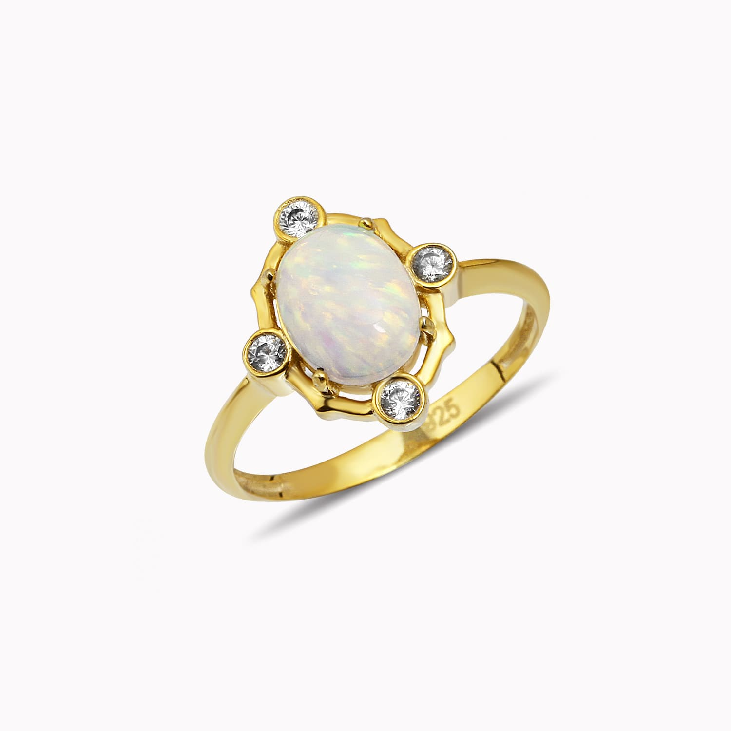 gold plated opal ring