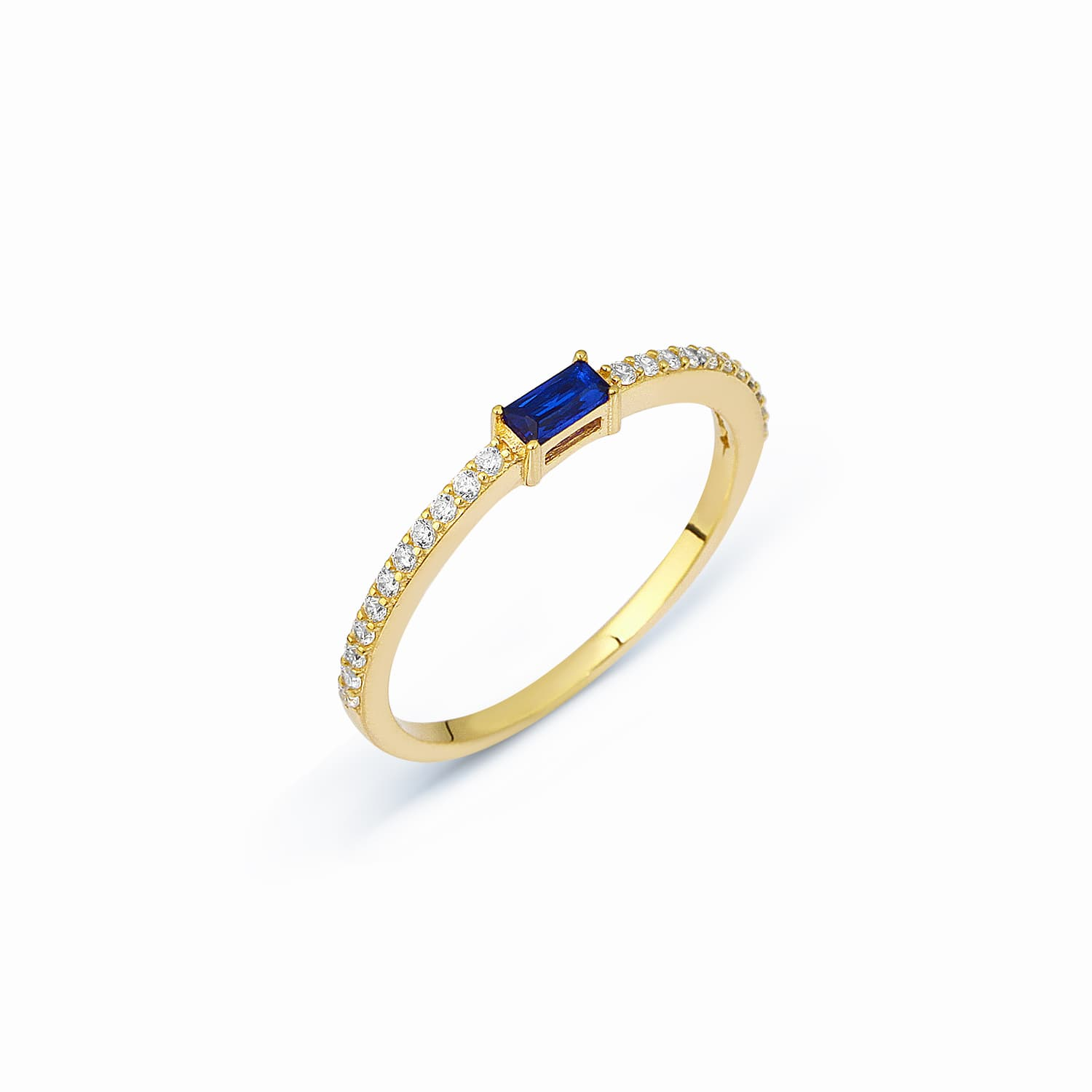 Lucy Color Stone Ring - Sapphire