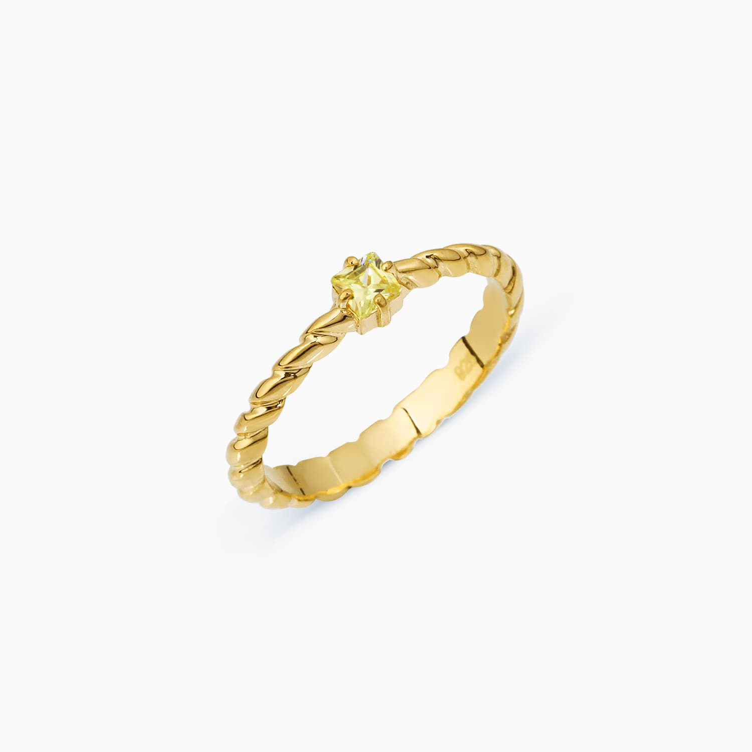 TWISTED SOLO RING YELLOW