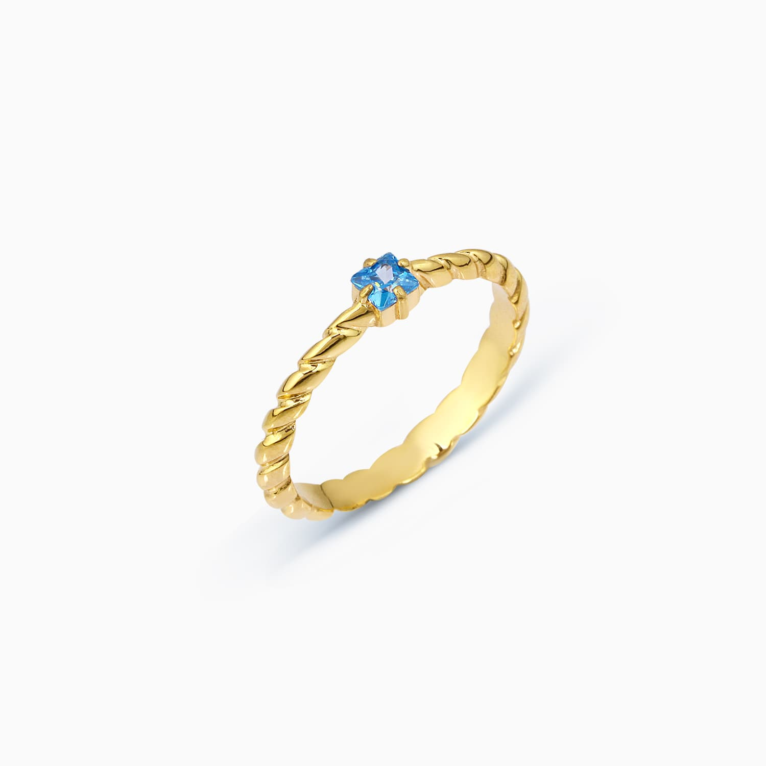 Idem Colorful Stone Ring - Blue Topaz