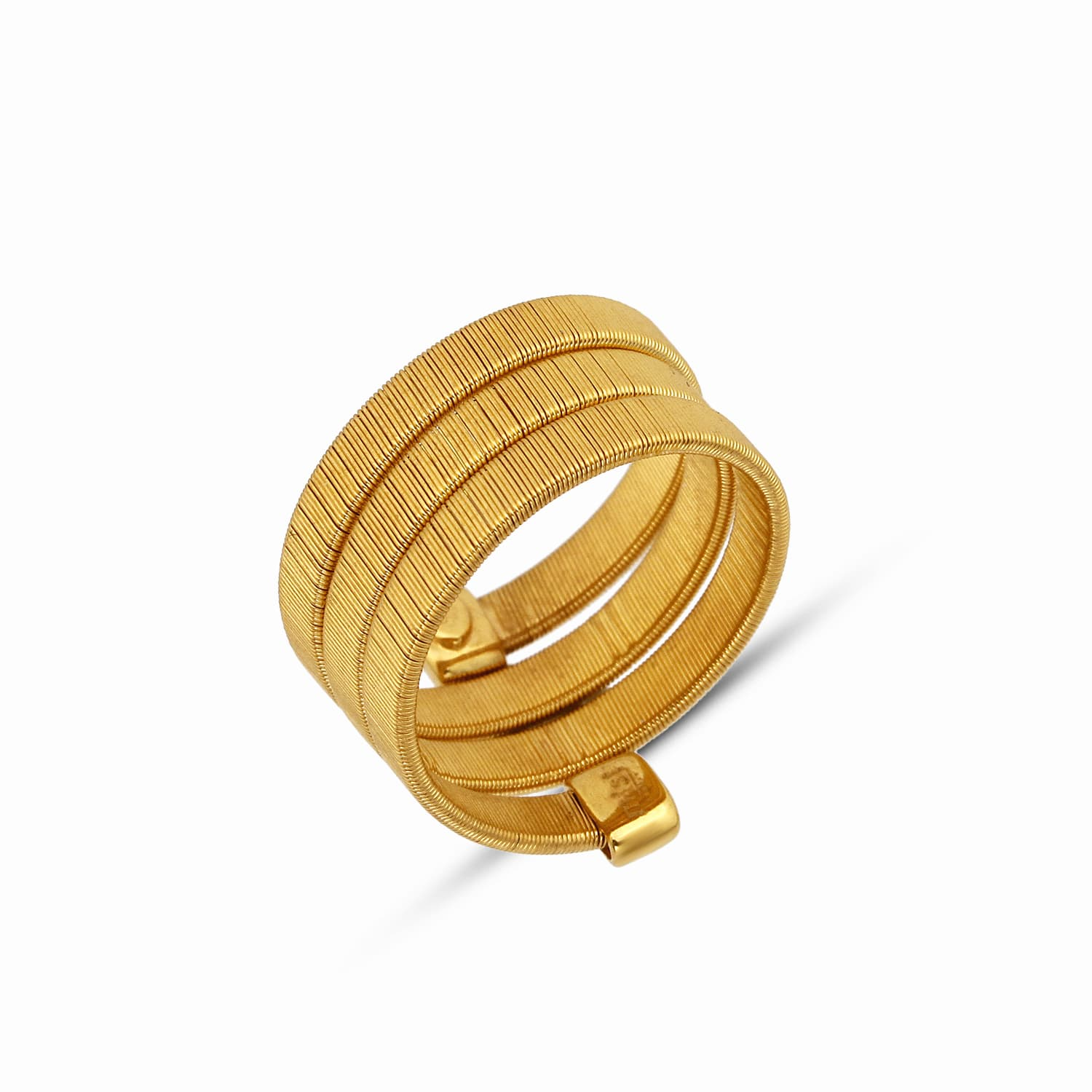 TRIPLE WRAPPED SNAKE RING