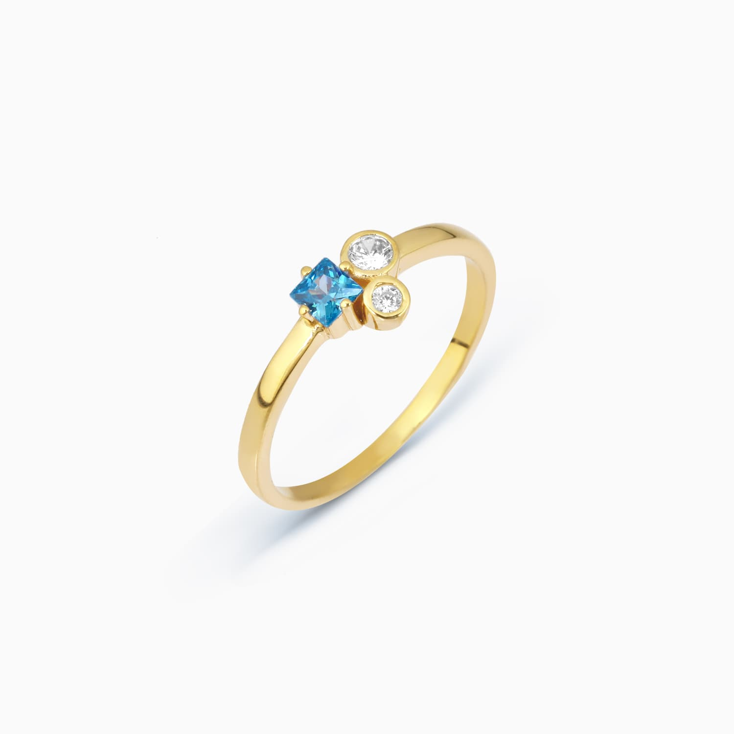 gold plated ring aqua