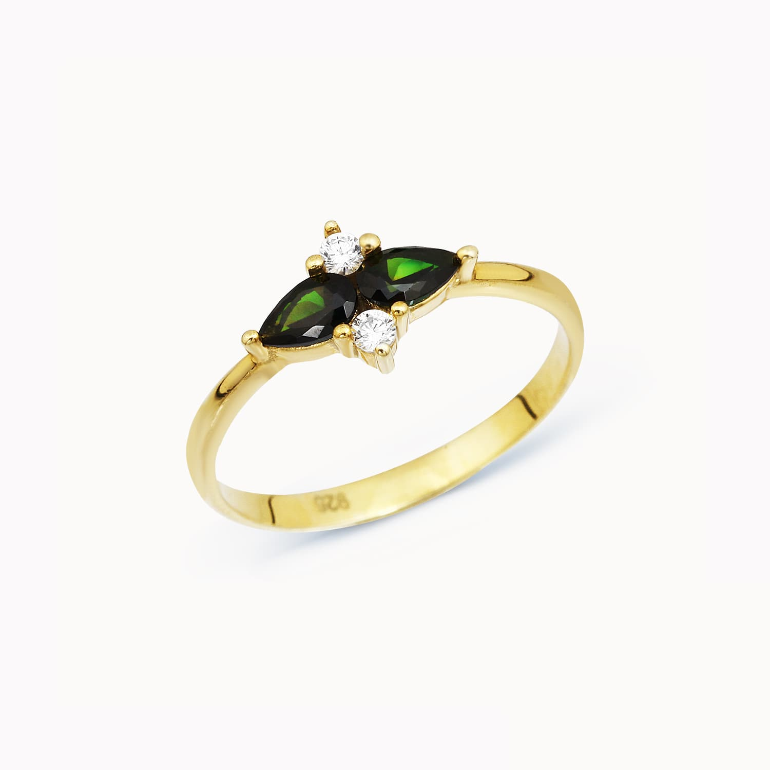 Banipal Colored Stone Ring - Emerald