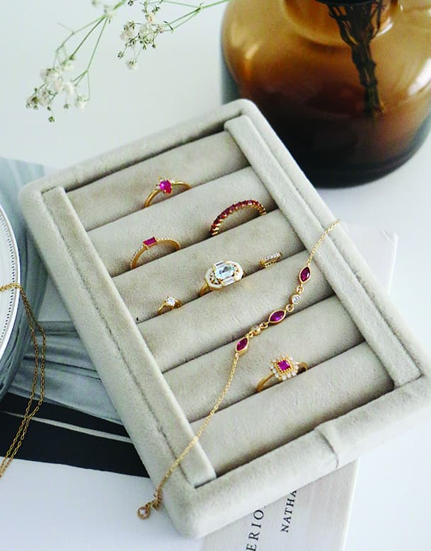 Lucy Color Stone Ring - Ros