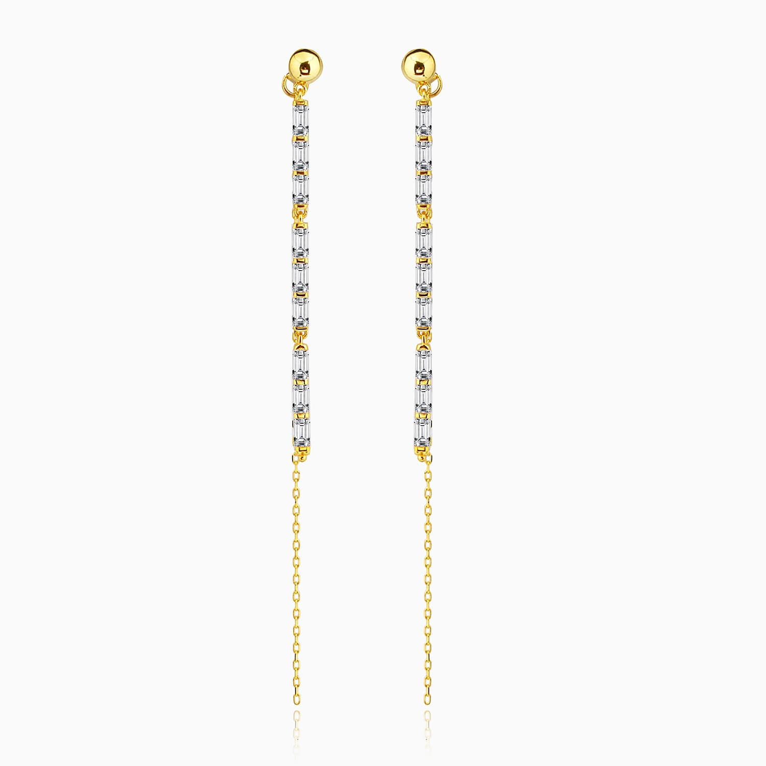 Gold plated minimal dangly earrings models